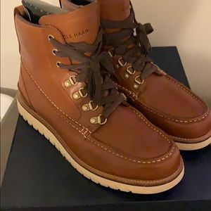 Cole Haan Grand Explorer moc-toe lace up boots